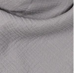 grey muslin cotton organic