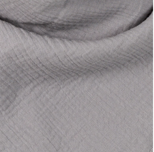 Grey Summer blanket made of 100% organic muslin cotton