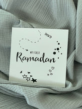 Load image into Gallery viewer, Baby Milestone card example - my first Ramadan