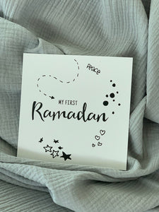 Baby Milestone card example - my first Ramadan