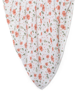 swaddle made of organic cotton with autumn roses