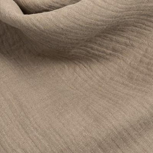 Muslin blanket Taupe brown