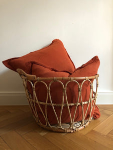 Muslin Cushion • Rusty Red