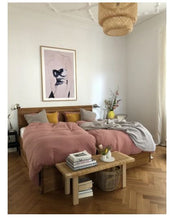Load image into Gallery viewer, bed linen for king size bed in old rose / delicate pink color