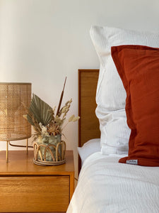 Offwhite bed linen made of organic cotton