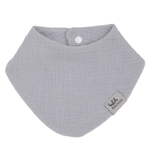 baby bib muslin in grey