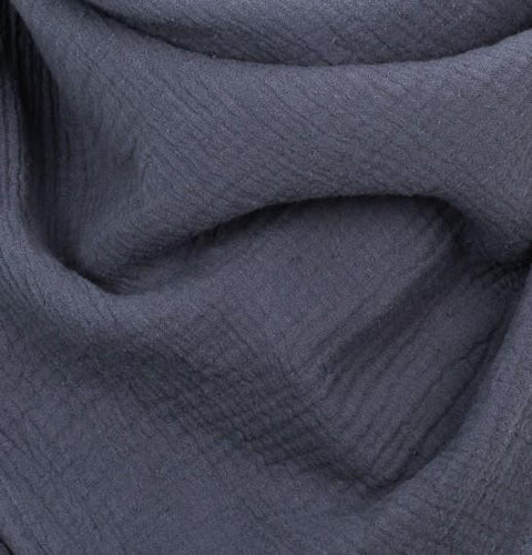 Muslin Blanket  Organic Cotton • Navy Blue