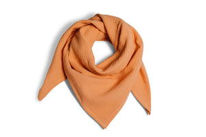 muslin scarf in apricot
