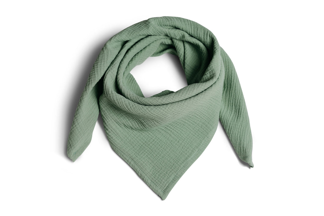 Muslin scarf in Eucalyptus made of 100% organic cotton