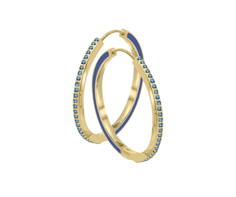 GLAZED GEM ENAMEL HOOPS