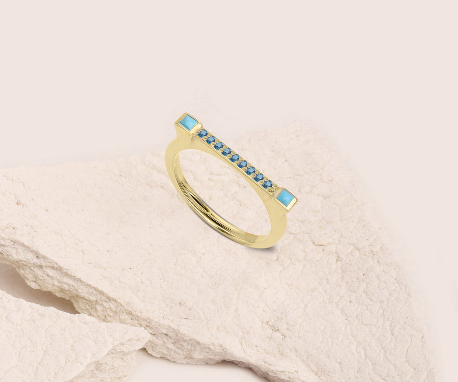 GEMSTONE DASH RING