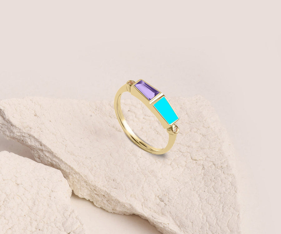 TAILORED BAGUETTE RING