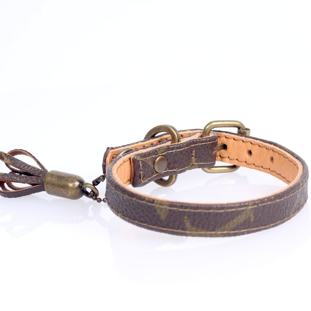 02/24 Handmade Limited Edition Halsband from vintage Louis Vuitton bag - Size 30 - DogitaNL