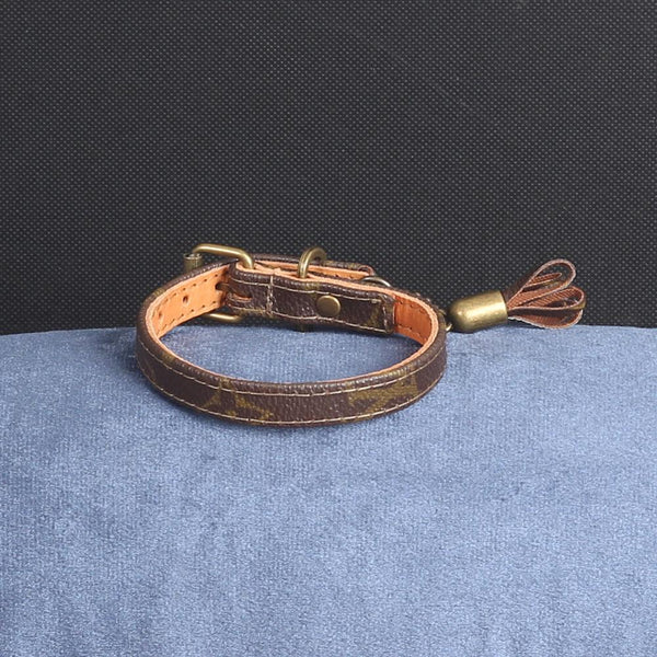 03/24 Handmade Limited Edition Halsband from vintage Louis Vuitton bag - Size 30 - DogitaNL