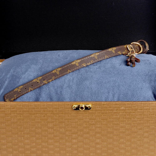 11/24 Handmade Limited Edition Halsband from vintage Louis Vuitton bag - Size 35 - DogitaNL