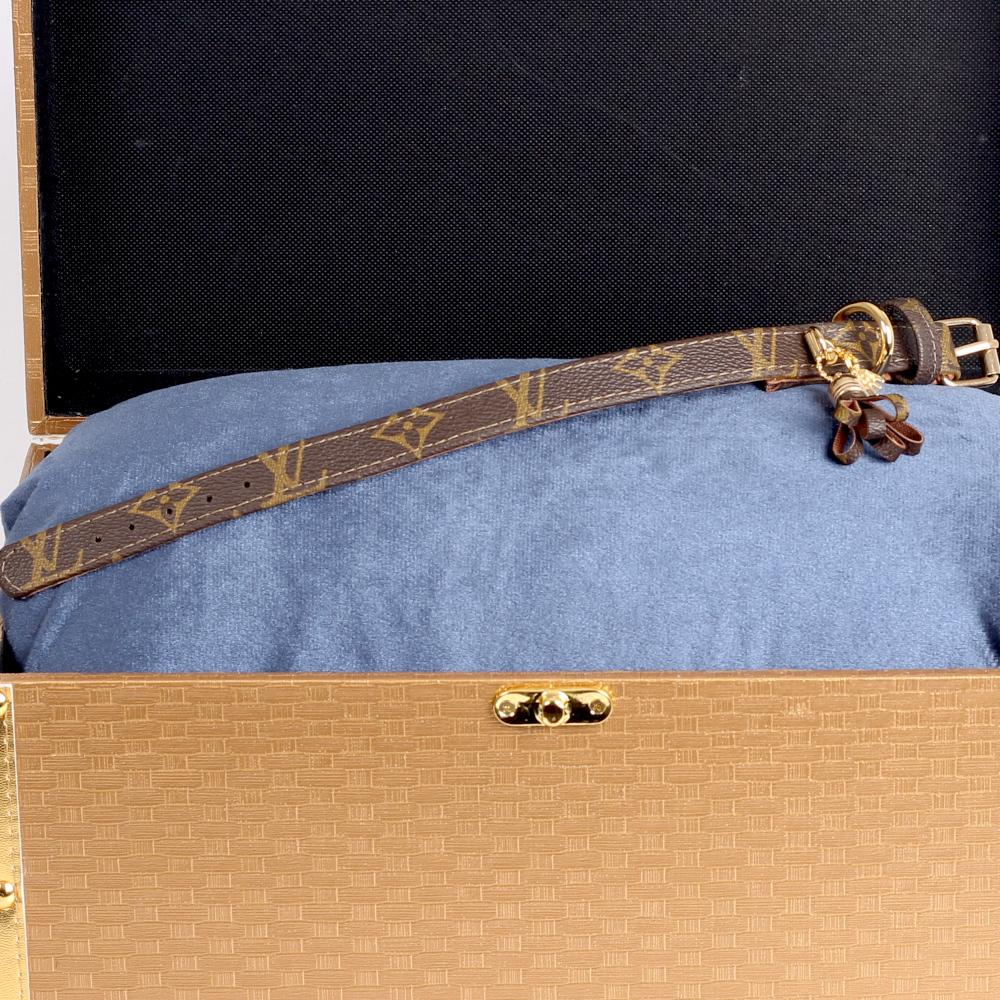 13/24 Handmade Limited Edition Halsband from vintage Louis Vuitton bag - Size 35 - DogitaNL