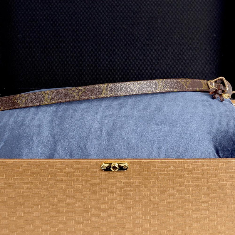 15/24 Handmade Limited Edition Halsband from vintage Louis Vuitton bag - Size 40 - DogitaNL