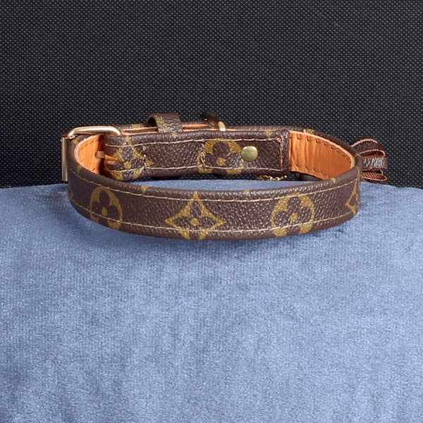 16/24 Handmade Limited Edition Halsband from vintage Louis Vuitton bag - Size 40 - DogitaNL