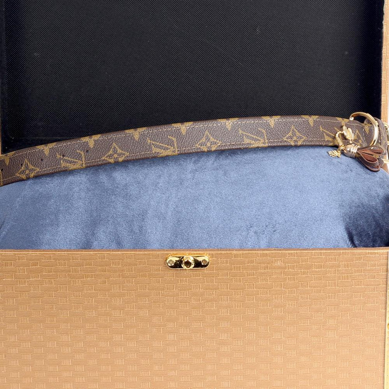 20/24 Handmade Limited Edition Halsband from vintage Louis Vuitton bag - Size 45 - DogitaNL