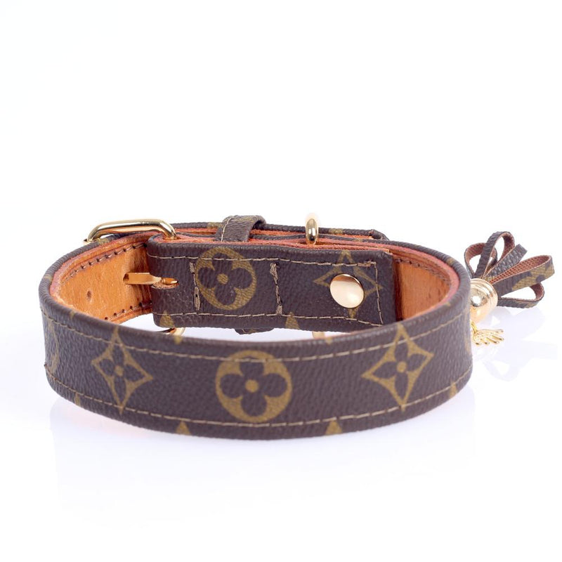 22/24 Handmade Limited Edition Halsband from vintage Louis Vuitton bag - Size 45 - DogitaNL