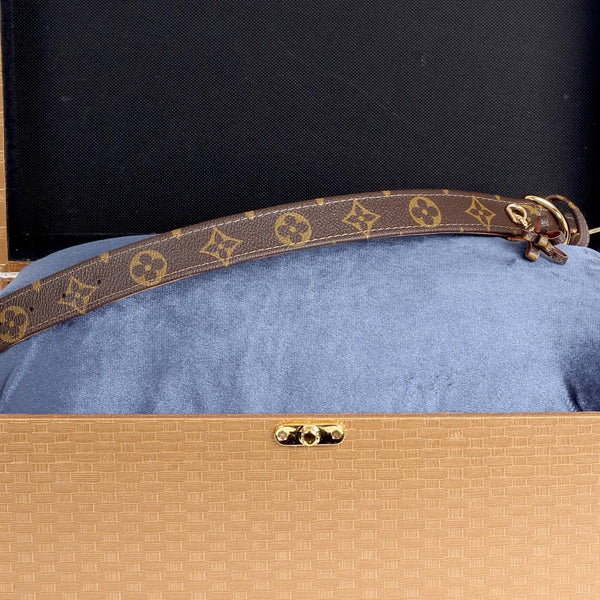 23/24 Handmade Limited Edition Halsband from vintage Louis Vuitton bag - Size 45 - DogitaNL