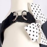 Black Polkadot Bow Step-in Tuigje - Susan Lanci Designs