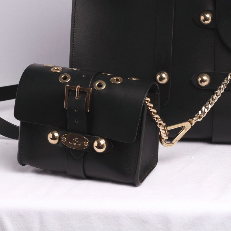 Black Royal Luxury Tas met Klein Tasje - Not Too Pet