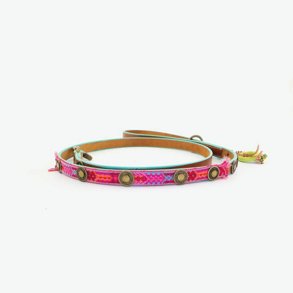 Boho Riem in Leer Rose - Dog With a Mission
