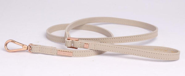 City Riem in Leer Beige met Rose Goud - Not Too Pet