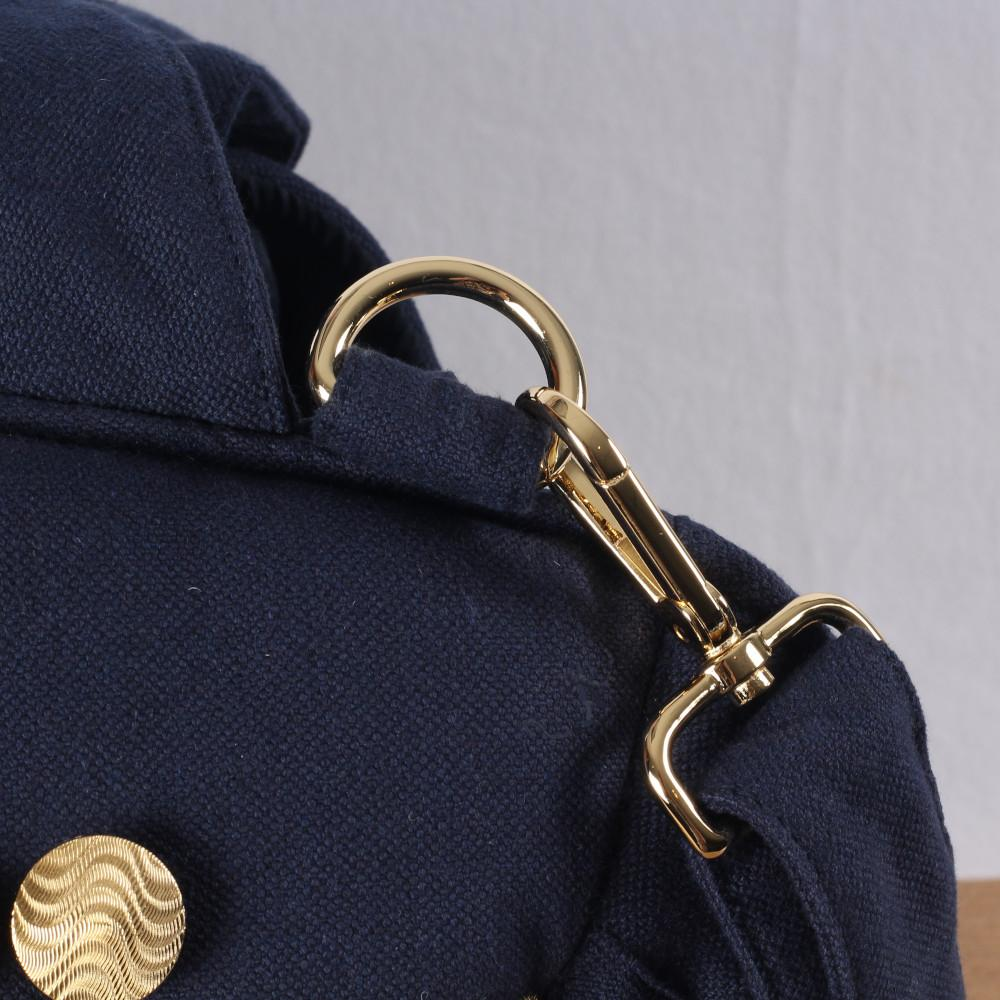 Gold Wave Tas in Navy Blauw - Mon Bonbon Milano