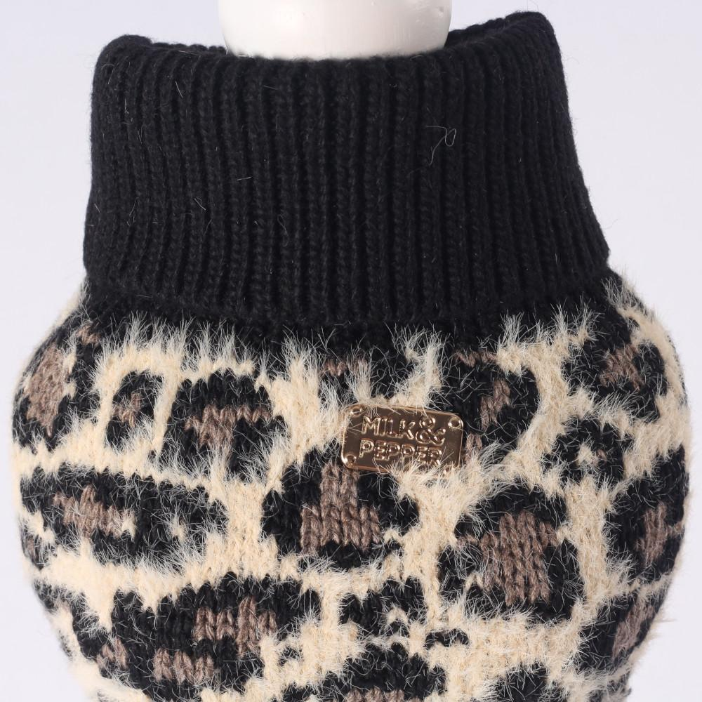 Kavango Trui in Leopard - Milk & Pepper