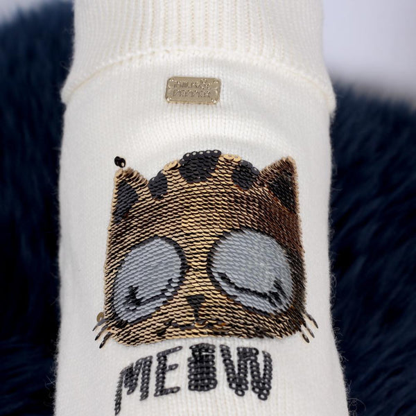 Meow Sweater - Milk & Pepper