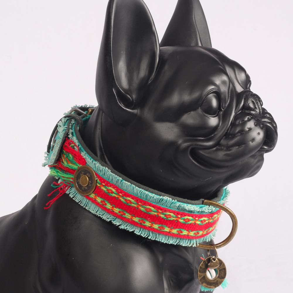 Peruvian Festival Ruby Halsband - Dog With a Mission