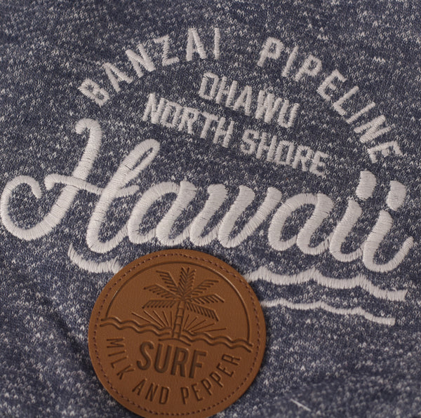 Hawaii Zomer Print en Badge in Bruin