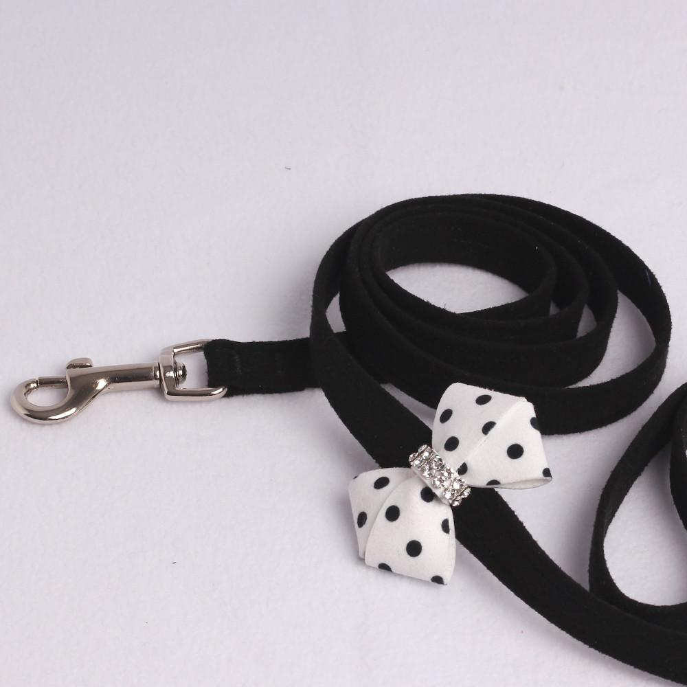 Polkadot Soft Riem in Zwart Wit - Susan Lanci Designs
