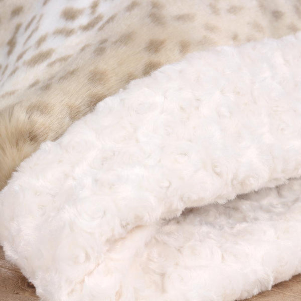 Soft Arctic Leopard Cuddle in Creme - Susan Lanci Designs