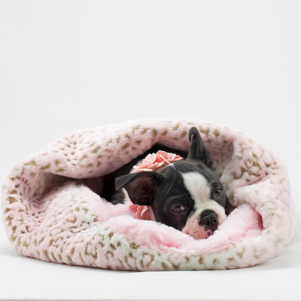 Soft Cosy Cuddle in Pink Leopard - Susan Lanci Designs