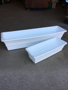 White Plastic Balcony Planter