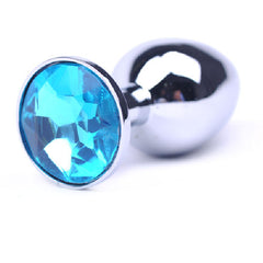 Metal Butt Plug Blue Small