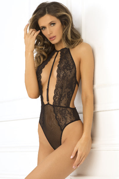Hot Pursuit Lace Bodysuit