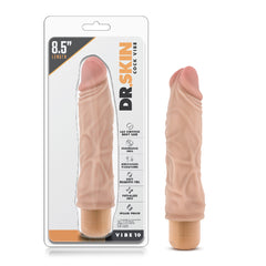 Dr Skin Cock Vibe 10 8.5in Vibrating Cock Beige
