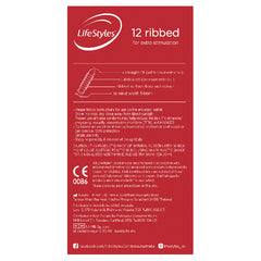 LifeStyles Ribbed Condoms 12