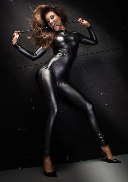 Power Wetlook Overall With Leash And 2 Way Zipper