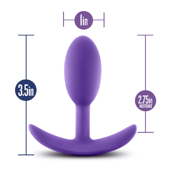 Luxe Wearable Vibra Slim Plug Small Purple