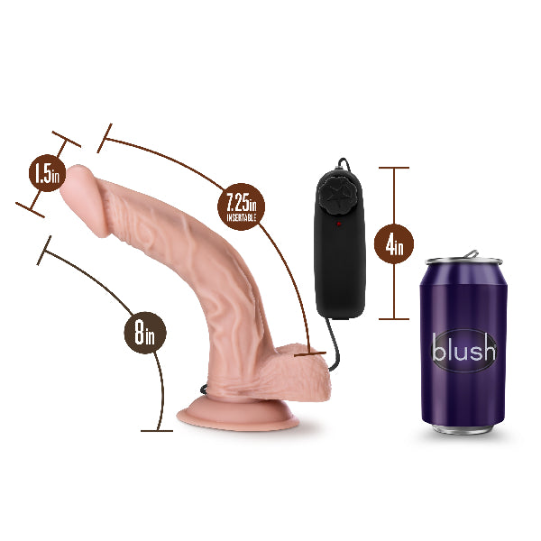 Dr Skin Dr Sean 8 Inch Vibrating Cock with Suction Cup Vanilla