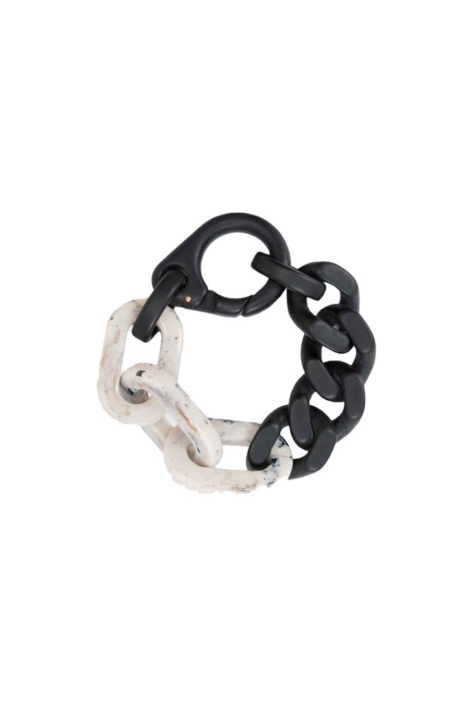 A-COLD-WALL* Duo Bracelet Black White