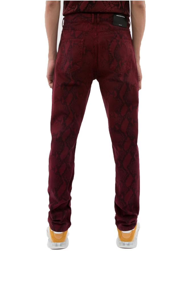 Alexander Wang Snake Jeans Red
