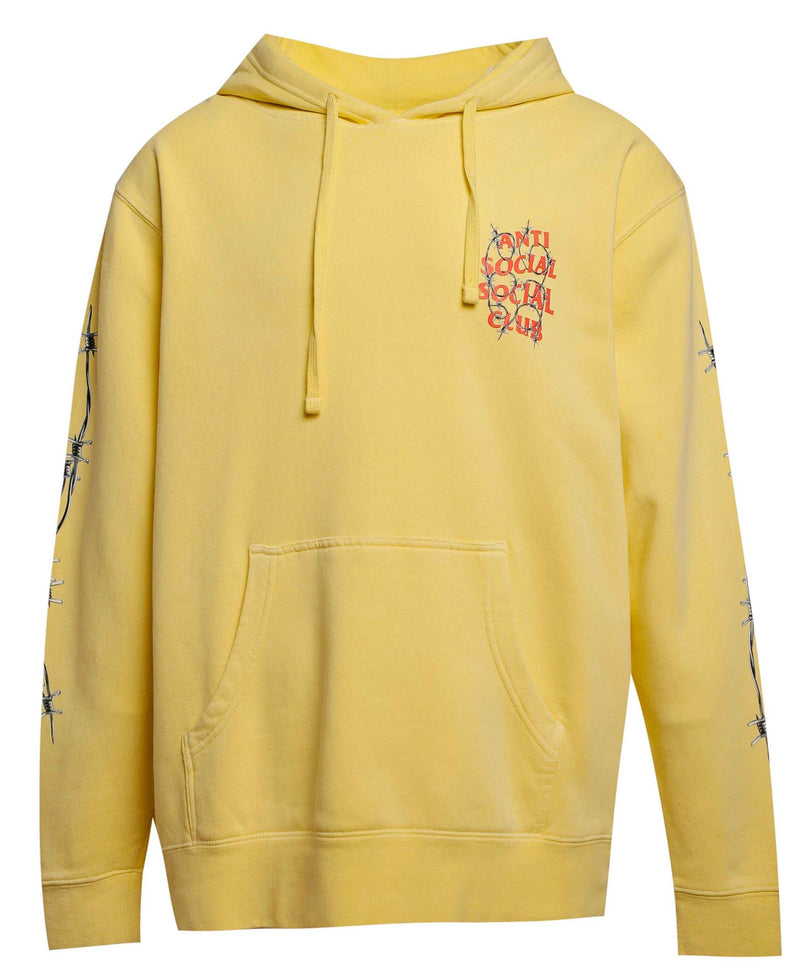 ASSC Anti Social Social Club Barbed Wire Hoodie Yellow