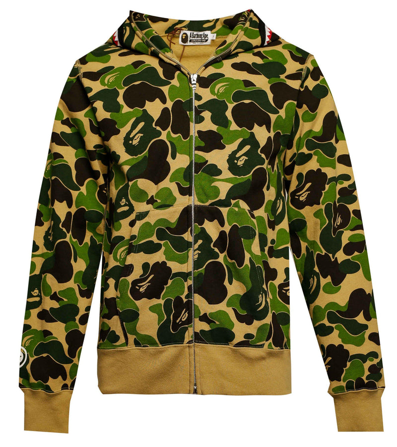 BAPE ABC Camo Shark Full Zip Hoodie Green