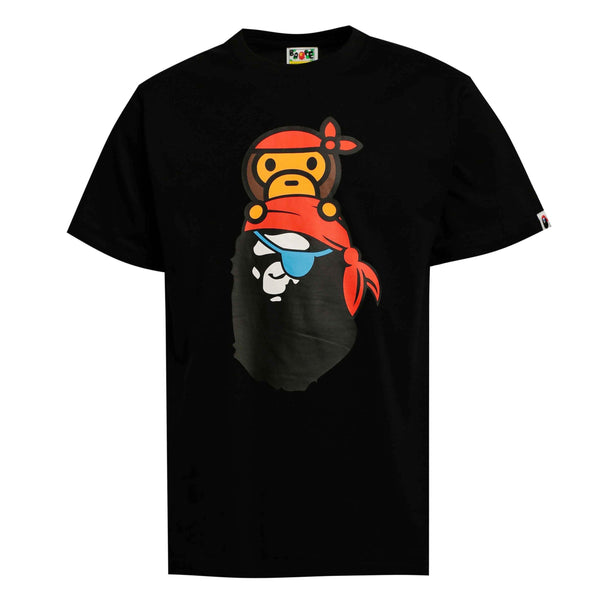 Bape Baby Milo Pirate Ape Head Tee Black